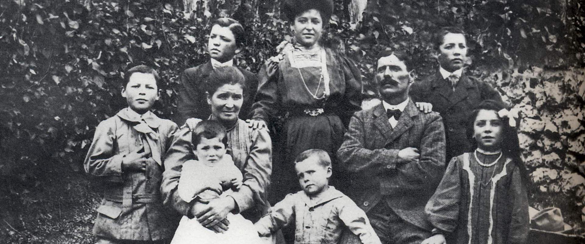 L'intera famiglia di Giuseppe De Lotto (Frances)